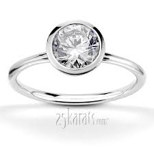 bezel set engagement ring bezel set center solitaire engagement ring cool jewelry