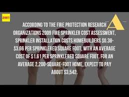 Sprinkler System Installation Cost Estimate by How Much Does It Cost To Install A Sprinkler System In A Building