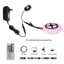 motion activated led light strip motion activated led bed light kit rgb pir motion activated led