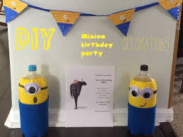 1st Birthday Party Decorations Homemade Diy Minion Birthday Party Decorations Birthdayswithjordan