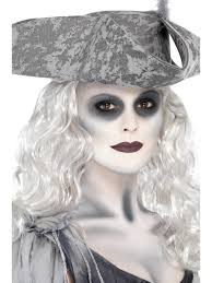 ghost ship pirate make up ladies mens halloween white ghost face paint