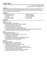 Janitor Job Description For Resume by Resume For Janitor Position Free Resume Example And Writing Download