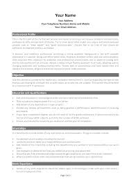 Best Resume Format For Graduate Students by 50 Cv Formats Word Documents Free Resume Template Google