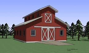 Red Barn Plans Barn Plans With Loft Monitor Style Barn Plans Monitor Barn Plans