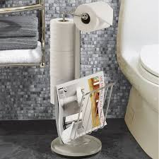 Toilet Paper Holders Better Living Products Free Standing Toilet Paper Holder U0026 Reviews