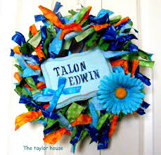 baby shower wreath baby boy shower wreath the house