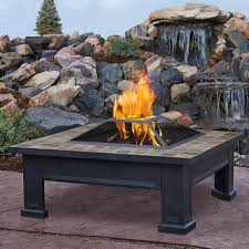 Pleasant Hearth Fire Pit - real flame breckenridge wood burning fire pit table u0026 reviews