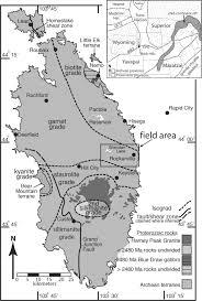 South Dakota Time Zone Map by Paleoproterozoic Transpressional Shear Zone Eastern Black Hills