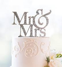 mrs and mrs cake topper silver glitter mr and mrs cake topper kitchen dining