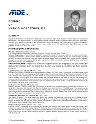 Professional Resume Example Professional Engineer Resume Examples Resume For Your Job