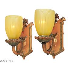 Antique Wall Sconces Edwardian Style Pair Of Antique Wall Sconces Circa 1910 1920