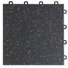 Interlocking Rubber Floor Tiles Rubber Top Interlocking Floor Tile 1 2 Inch With 2mm Confetti