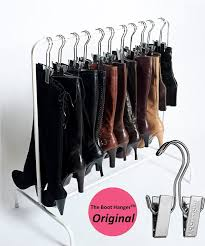 amazon com boottique boot rack with 6 silver hangers home u0026 kitchen
