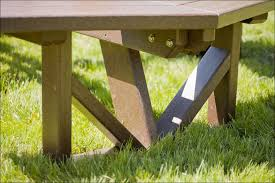 exteriors picnic table legs hexagon picnic table thermoplastic