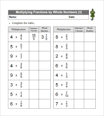 11 multiplying fractions worksheet templates u2013 free pdf documents