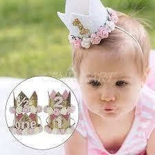 flower accessories baby girl 1st birthday party hat flower princess crown decor hair