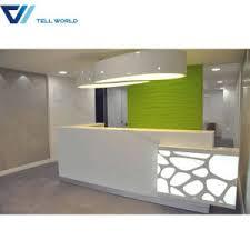 Hotel Reception Desk China Small Salon Reception Desk White And Green Reception Table