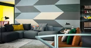 muster für wandgestaltung geometrisches muster als wandgestaltung retro lede couchstyle