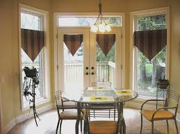 dining room windows with triangle valances creating stylish