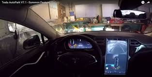 garage door opens by itself creeping toward kitt now tesla can be summoned and park itself