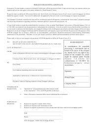 certificate estoppel certificate form