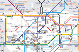 Madrid Metro Map by London Map London Tube Map With Attractions Underground