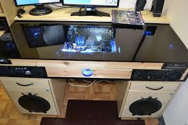 bureau avec ordinateur intégré bureau avec construit dans le pc tubefr com