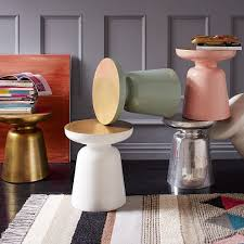 west elm accent table martini side table metallics west elm beach inspiration