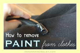 How To Remove Paint From Upholstery How To Get Paint Off Of Clothes Hometalk