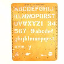 vintage e z lettering co stencil no 15 set c 1955 3 4