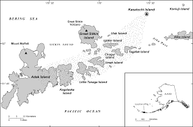 map of aleutian islands kasatochi island integrated research project usgs alaska science