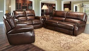 All Leather Sofa Hawthorne Power Dual Reclining Sofa In Brown Tri Tone Leather By
