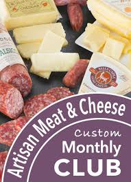 salami of the month club monthly meat and cheese club always free shipping a gift inside