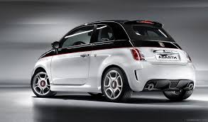 abarth 500 black and white color car pictures images