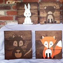 signs decor 6 woodland animal nursery signs nursery decor baby shower gift or