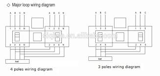 4 pole 3 phase automatic changeover change switch for