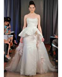 wedding dress up for peplum wedding dresses 2013 bridal fashion week martha