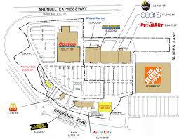 Map Of Arundel Mills Mall Glen Burnie Md Ordnance Plaza Retail Space For Lease Klnb Retail