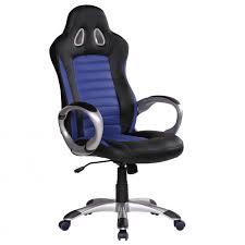 Chefsessel Chefsessel Racer Blau Schwarz 110kg Bürosessel Kunstleder