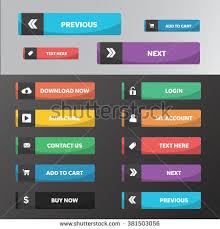 buttons designen modern web buttons flat design square stock vector 381503179