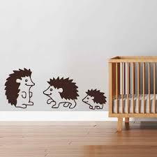 compare prices on animals wall decal online shopping buy low hedgehog family woodland animals wall decal art vinyl sticker for children room girls room boys room