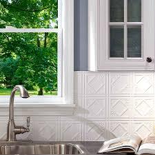 fasade kitchen backsplash decorating fasade backsplash rib in brushed nickel with