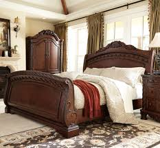Discontinued Ashley Bedroom Furniture Ashley Furniture Trishley King Sleigh Bed In Light Brown Local