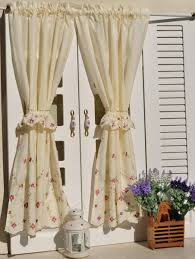 French Style Kitchen Curtains by Country Style Kitchen Curtains