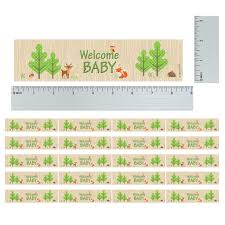 woodland animals baby shower water bottle labels set of 20