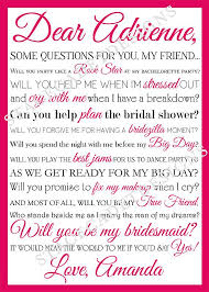Bridesmaid Card Wording 16 Best Ways To Ask Bridesmaids Images On Pinterest Be My