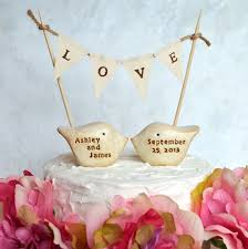 birds wedding cake toppers wedding cake topper and l o v e banner package deal