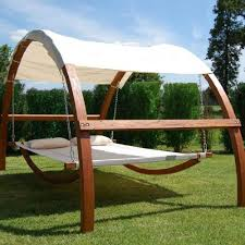 Swing Bed With Canopy Relax In Nature With A Cozy Swing Bed Furniture Pinterest