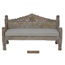 french indian carved daybed mattress balinese day bed blue rustic