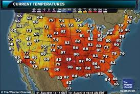 us weather map monday july weather breaks 2 700 temperature records and it s